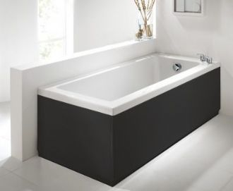 Commercial Grade High Gloss Black 2 Piece adjustable Bath Panels